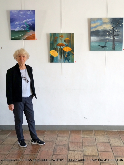Photographe Claude Burillon : EXPO PRESBYTERE PLAN de la TOUR Avril 2019 Lyne AUBE
