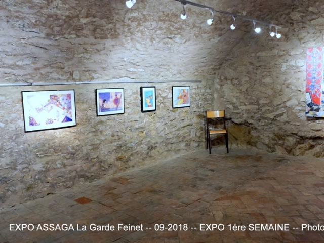 Photographe Claude Burillon : EXPOSITION ASSAGA 1 LA GARDE FREINET 09-2018