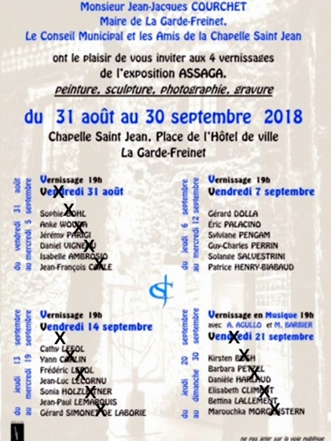 Photographe Claude Burillon : EXPOSITION ASSAGA 2 LA GARDE FREINET 09-2018