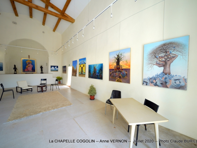 Photographe Claude Burillon : La CHAPELLE COGOLIN -- Anne VERNON -- Juillet 2020