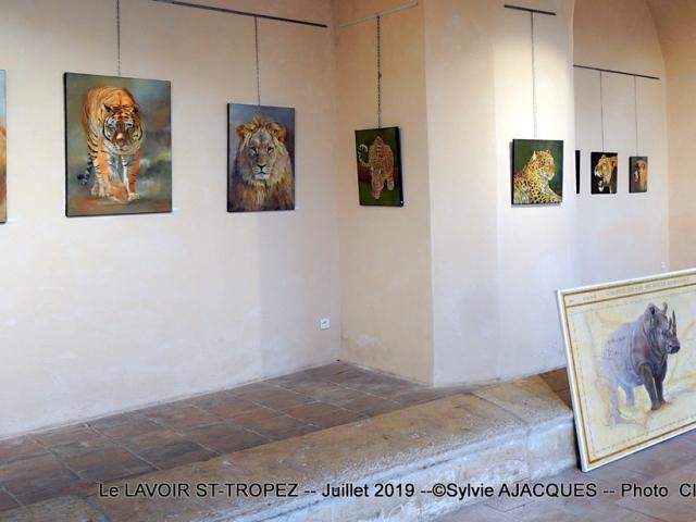 EXPO Sylvie AJACQUES LE LAVOIR ST TROPEZ JUILLET 2019 : EXPO Sylvie  AJACQUES LE LAVOIR ST TROPEZ JUILLET 2019