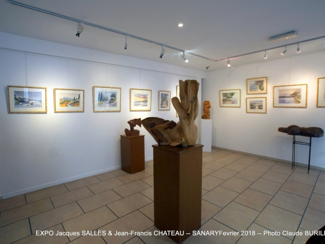 Photographe Claude Burillon : EXPOSITION Jacques SALLES Jean-Francis CHATEAU SANARY