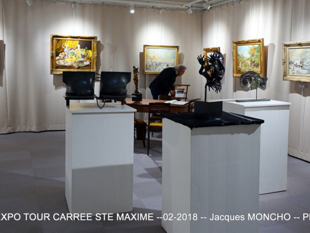 Photographe Claude Burillon : EXPOSITION SAK - MONCHO - TOUR CARREE STE MAXIME 02-2018
