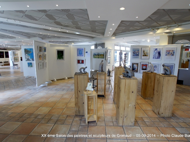 Photographe Claude Burillon : XX eme SALON PEINTRES SCULPTEURS GRIMAUD 2014