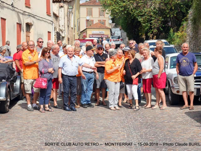 Photographe Claude Burillon : SORTIE AUTO RETRO PLAN de la tour - MONTFERRAT 15-09-2018