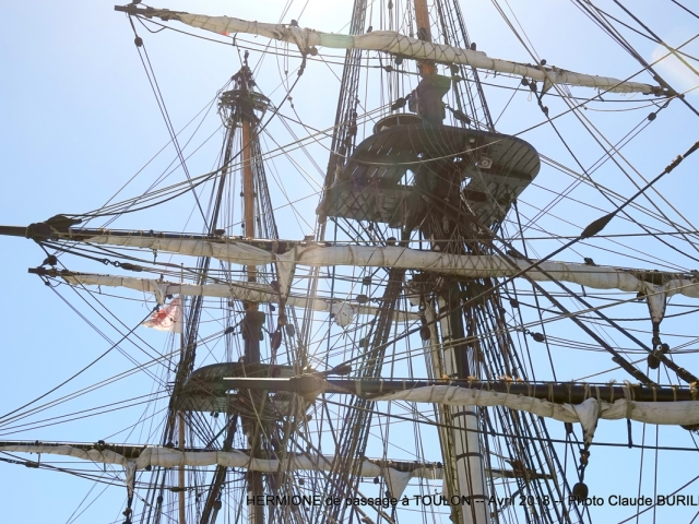 Photographe Claude Burillon : L'HERMIONE de PASSAGE a TOULON Avril 2018